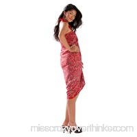1 World Sarongs Womens Abstract Swimsuit Cover-Up Sarong in Your Choice of Color Scrolls Red B07541LB3W