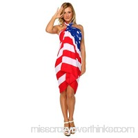 1 World Sarongs Womens American Flag Swimsuit Cover-Up Sarong B019P6LDYG
