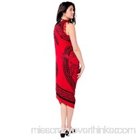 1 World Sarongs Womens Celtic Swimsuit Sarong Unicorn in your choice of color Rose Red B009RULFWG