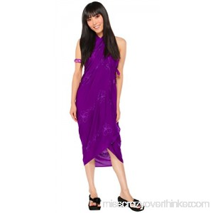 1 World Sarongs Womens Embroidered Swimsuit Sarongs in Your Choice of Color Purple B07BX4JJL3