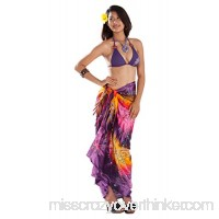 1 World Sarongs Womens Embroidered Tie Dye Swimsuit Sarongs Purple Yellow B07BNZRBW6