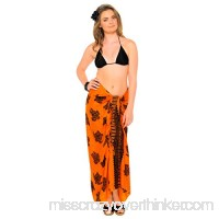 1 World Sarongs Womens Fun Animal Theme Turtle Butterfly Swimsuit Cover-Up Sarong in your choice of color Orange B07CL6MG7L