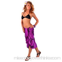 1 World Sarongs Womens Tattoo Swimsuit Cover-Up Sarong in Your Choice of Color Royal Purple B072BBGPTL