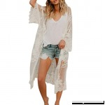 2018 New Women's Lace Cardigan Kimono Boho Long Beach Cover up Shirt Blouse Open Front for Ladies One Size B07DN55TFZ