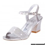 AOP❤️Women Sandals Ladies Fashion Crystal Casual Square Heel Single Shoes US Size 5-8 Sandals Silver B07PFPJ29K