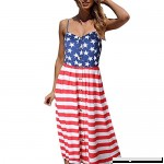 Allywit Dresses Summer Bikini Cover up Swimsuit Beach Sexy American USA Flag Backless Dress Red B07DFLWRBZ