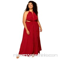 Astra Signature Women's Plus Size Merivale Maxi Dress Sexy High Side Slit Party Cocktail Dress Burgundy B07CWHGQ6P