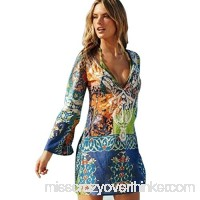 AutumnFall® Women Sexy Chiffon Bohemian Cover Up Beach Dress B01E86THLY