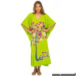 Back From Bali Womens Beach Cover up Maxi Kaftan Love Tree Beach Dress Swimsuit Cover up Lime B07BLSK7XZ