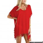 Boomboom Teen Girls Bikinis Cover ups Women Chiffon Cover Up Swimwear Bikini Loose Beach Cover Ups Red B07BT85SBG