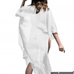 Minisoya Women 3 4 Sleeve Bikini Cover Up Casual Loose Chiffon Shawl Kimono Cardigan Summer Beach Dress Beachwear White B07BXFSSNH