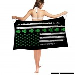 Nakgn Swimwear Cover up Beach Sarong Wrap Vintage Flag Scarf St Patrick's Day Irish American Flag B07DP66YJ6