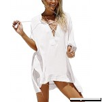 SWOMOG Women's Fashion Swimwear Crochet Tunic Beach Dress Bikini Cover Up Net One Size B079675PMR