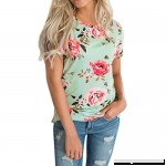 T Shirts for Womens FORUU Ladies Short Sleeve Floral Printed Blouse Top Clothes Green B0799KYXFT