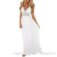 Women's Casual Dress Crochet Backless Maxi Dresses Summer Dresses Boho Dresses for Women Beach Long Dresses White B07N6DR4B9