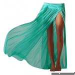 Women's Sexy Beach Skirt Perspective Gauze Bikini Cover Bohemian Maxi Split Skirt Green B07B94S35Q