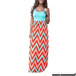 Womens Striped Long Boho Straight Dress St.Dona Lady Casual Beach Summer Sleeveless Sundrss Maxi Dress Blue B07NWLTTXC