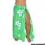casualmovements Poipu Plumeria Sarong Swimsuit Coverup Pareo BeachWrap Scarf Shawl stall Green Baby Blue B07557S1H4