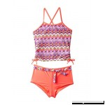 Angel Beach Big Girl's Chevron Ikat Tankini Swimsuit Coral  B01J93AWLU