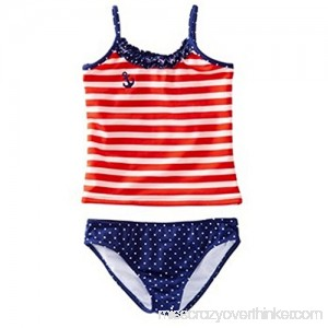 Azul Swimwear Girls In The Navy Tankini Multi B01F651J4O