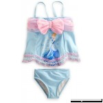 Disney Store Girls Princess Cinderella Deluxe 2-Piece Swimsuit Size Large 10  B00E354ZDG