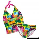Mudd Big Girls' Plus Palm Tree 2-pc. Halterkini Set Medium B00UG0D63C