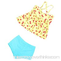 Oushiny Girls' Polka Dots Swimsuit Kids' 2-Piece Swimwear 2 Colors For 2-8 Yellow B0734SKZCX