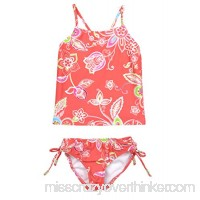 Point Conception Girls Tankini Delight Coral B00TSV4Q7A