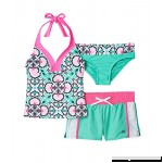 ZeroXposur Big Girls Porcelain Doll Tankini Swimsuit & Shorts Set Wasabi 12 B074LVBNHL