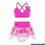 iiniim Kids Girls Two Piece Butterfly Tankini Swimsuit Swimwear Bathing Suit Tops with Skirted Bottoms Rose B07DNYRPQD