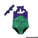 EITC Little Girls Summer Swimmable Mermaid Princess Bikini Swim Bathing Suit+headband  B01GHN0UBC