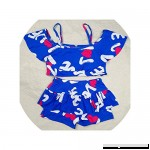 Lucky-fairy-Girl swimsuit 2 Pieces Swimsuits for Girls Printing Polyester Two Pieces Children Swimwear Blue B07QHS5K6R
