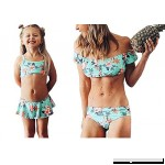 Mommy Me Swimsuit Floral Print Off Shoulder Bikini Tops Panty Set Family Matching Swimwear Bathing Suit  B07JNH4XSD
