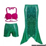 Uhnice Girls Mermaid Tail Swimsuit Kids 3pcs Swimwear Bathing Suit Green B0784QBYG6
