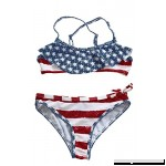 Ytwysj Girl's Swimsuits,4th July American Flag Print Stars & Stripes Flounce Bikini Swimsuit for Kids Flag B07D8ZCKWQ