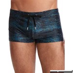2XIST Men's Cabo Pattern Swim Trunk Snake Black B07JQNR9D5