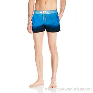 2xist Men's Ibiza Pattern Swim Trunk Ombre Light Blue, Medium Blue, Black B0170JVUZM