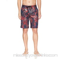 A|X Armani Exchange Men's Beachware Shorts Brush Rhubarb Jungle B0774VSGCW