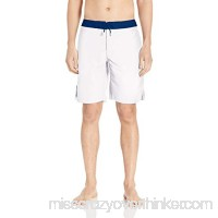 A|X Armani Exchange Men's Swimming Trunks with Contrasting Waistband White B07N6XT5RW