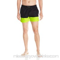 BJÖRN Borg Men's Color Block Swim Trunk Black B01N20KHMG