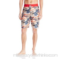 Balboa Men's American Fighting Jets Swim Trunks Red White Blue B01B3AHCDI