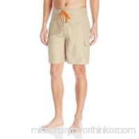 Balboa Men's Hybrid Fishing Swim Shorts Khaki Orange B01B3AHCOW