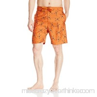 Balboa Men's Printed Swim Trunk Orange B01N16PTIE