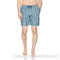 Beach Bros Men's Wavy Stripe Yellow B074CNNY2H