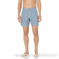 Ben Sherman Men's Flag Print Swim Trunk White B07NG53ZPN