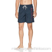 Ben Sherman Men's Logo Swim Trunk, Staples Navy B07D1P3S24