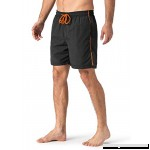 FASKUNOIE Men's Swim Trunks Quick Dry Mesh Lining Beach Shorts Fashion Casual Short with Pockets Black B07N7N5VY5