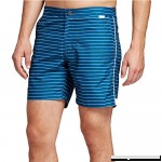 Ibiza Ocean Club Mens Swim Trunks 32 Horizontal Stripe Blue  B079YF5BWT