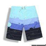 MATCHA LIFE Men's Quick Dry Swimming Trunks Mens Beach Shorts Without Mesh Lining Blue-black B07ML4F2CQ