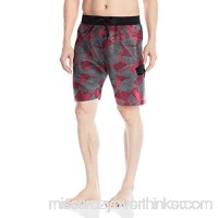 adidas Men's Sport Geo 9 Inseam Volley Swim Trunk Red B01MXDSGOP